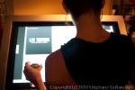 Le site Les Tontons présenté sur l\'écran tactile géant