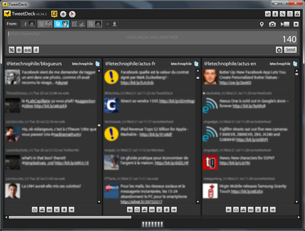 TweetDeck, Twitter, Lists, Listes