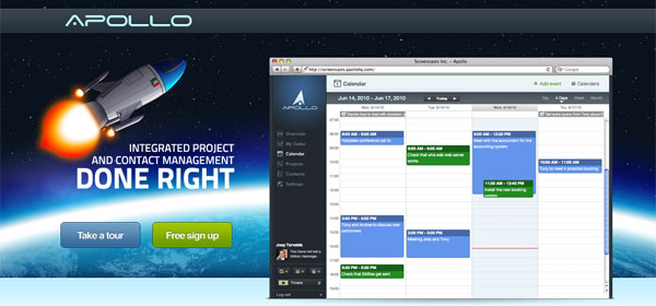 Apollo HQ ApolloHQ Logiciel Gestion Projets Contacts Web Project Contact Management Software
