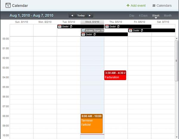 ApolloHQ Calendrier Gestion Tâches Task Management