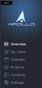 ApolloHQ Apollo HQ Menu Survol Overview Tasks Tâches Calendar Calendrier Projects Projets Contacts Settings Paramètres Options
