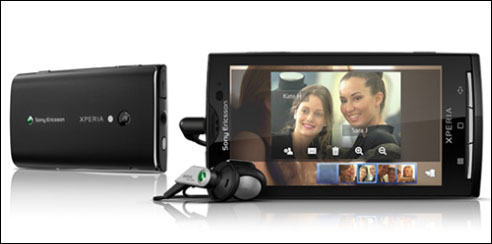 Sony, Ericsson, Sony-Ericsson, Xperia, X10, X10Mini, Mini, smartphone, WiFi, 3G, Bluetooth, Android, touch screen, écran tactile