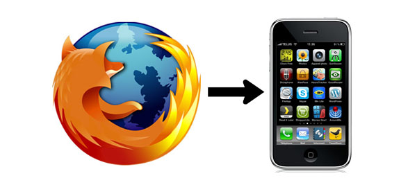 Firefox Home sur iPhone