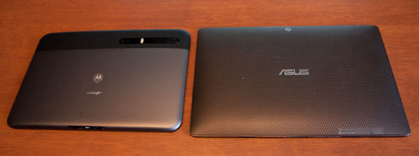 Asus Transformer vs Xoom dos/back