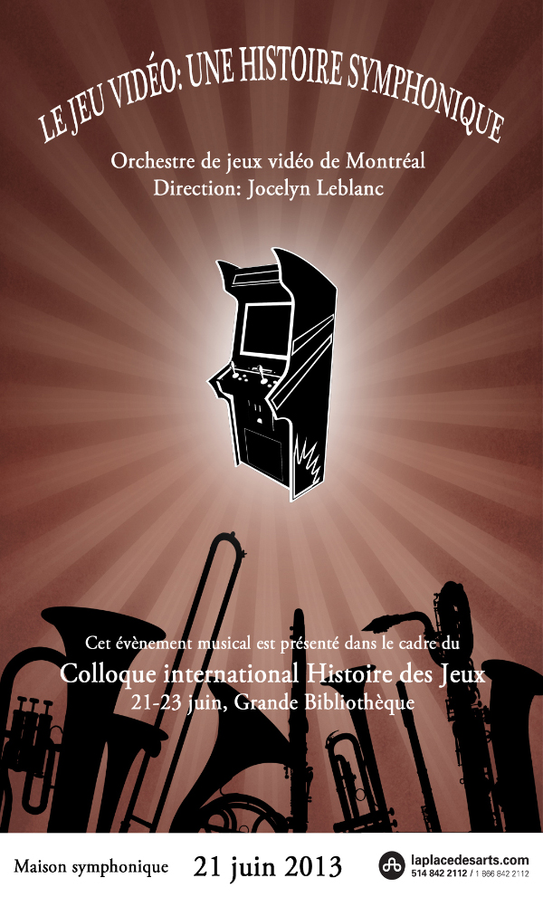 Affiche officielle du concert à la Place des Arts