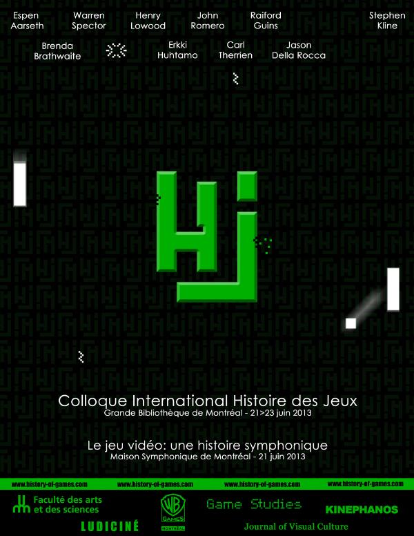 Affiche officielle du colloque sur l'histoire du jeu vidéo à Montréal