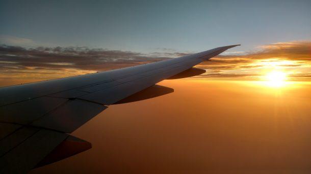 Sunset Coucher de soleil avion plane