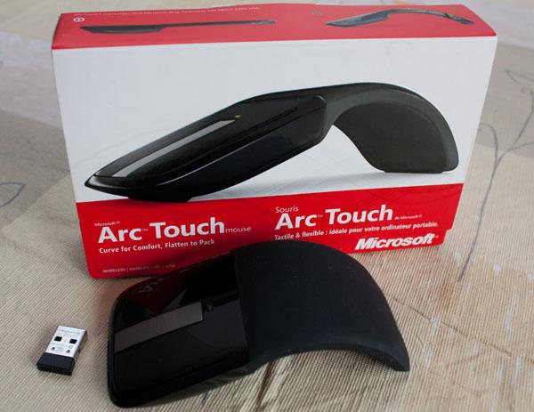 Microsoft, Arc, Touch, mouse, souris, connecteur, USB, boite