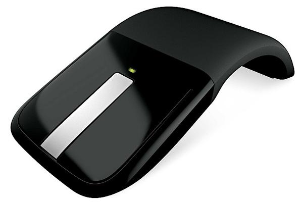 Microsoft, Arc, Touch, mouse, souris, recourbée, activée