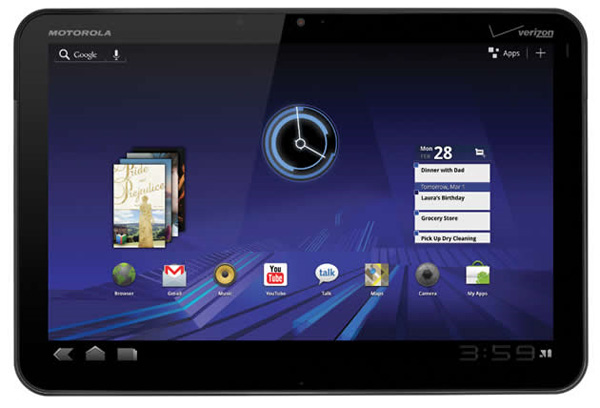 Motorola Xoom interface Android