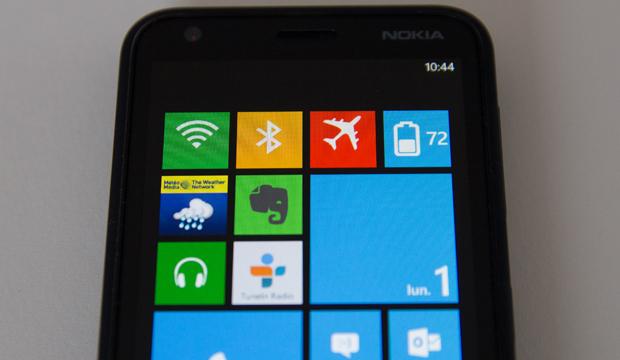Nokia Lumia 620 tuiles actives