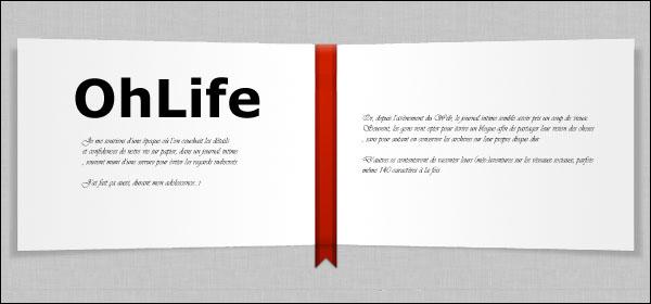 OhLife, journal, intime, de bord, blog, blogues, Facebook, Twitter, médias, sociaux, social, media