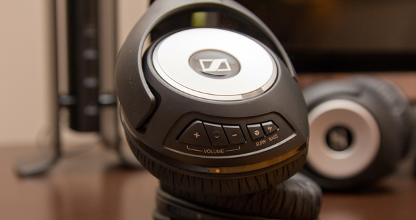 casque sans fil Sennheiser RS 170 (boutons de fonctions)