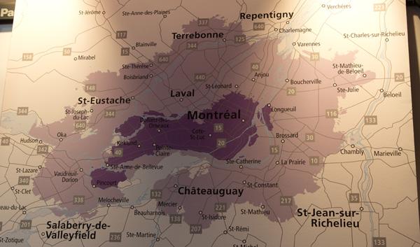 Couverture réseau LTE Rogers à Montréal