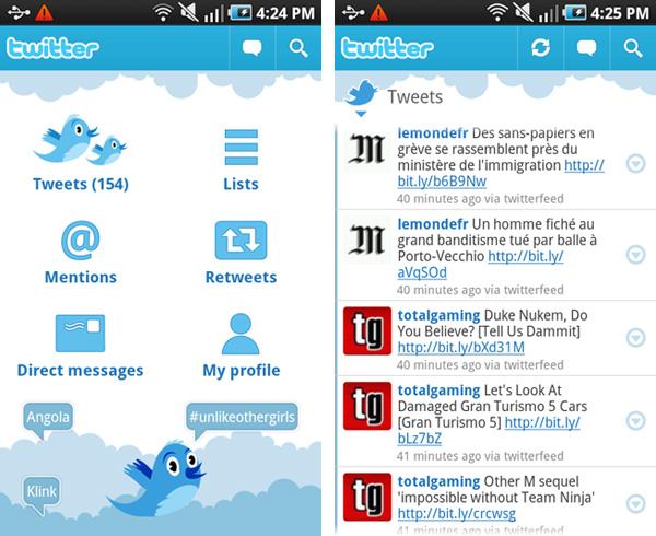 Samsung, Galaxy, Galaxy S, Vibrant, Android, Market, Twitter, App