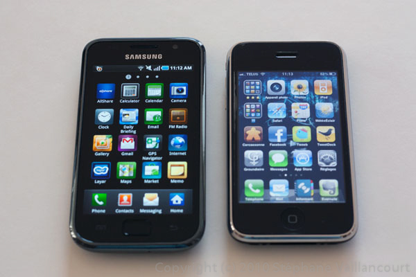 Samsung, Galaxy, Galaxy S, Vibrant, iPhone