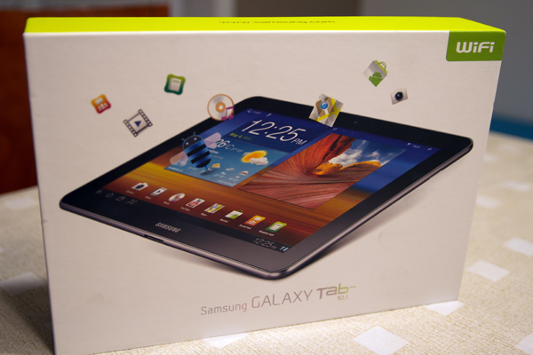 Samsung Galaxy Tab 10.1 box boite