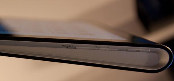 Sony Tablet S boutons de volume et mise en marche