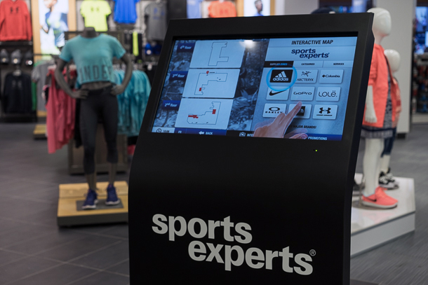 Sports Experts borne interactive