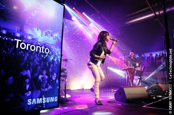 Lancement du Samsung Galaxy S4 au New City Gas de Montréal avec Dragonette