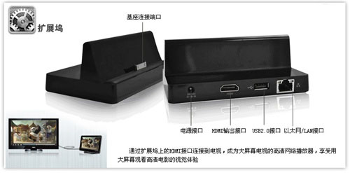 gTablet ViewSonic dock socle