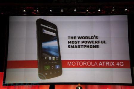 Téléphone intelligent Motorola Atrix 4G