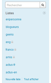 Twitter, lists, list, liste, listes